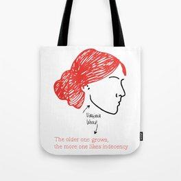 History's Women: Virgina Woolf Tote Bag