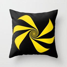 Abstract. Yellow Ribbon. Throw Pillow