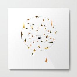 brown bear or grizz. geometric Metal Print