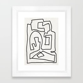 Abstract line art Framed Art Print
