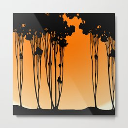 Forest Silhouette by Seasons K Designs for Salty Raven Metal Print