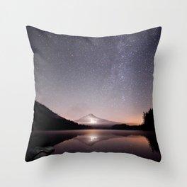 Trillium Lake Throw Pillow