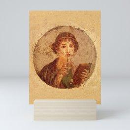 FRESCO OF SAPPHO POMPEII Mini Art Print