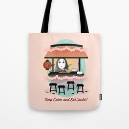 No Face Kaonashi Selling Sushi Tote Bag