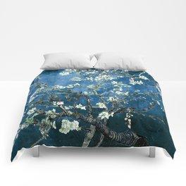 Van Gogh Almond Blossoms : Ocean Blue Comforters