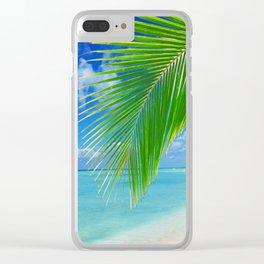 Domenicana beach Clear iPhone Case