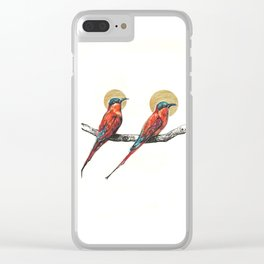Two Little Birds Clear iPhone Case