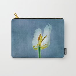 White withering tulip flower Carry-All Pouch
