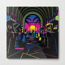 Arcade Saloon Metal Print
