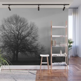 Field of Trees in Black and White Wall Mural