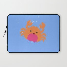 Orange Cartoon Crab Laptop Sleeve