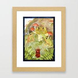 Toad Council Framed Art Print