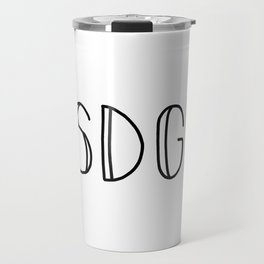 SSDGM black text on white Travel Mug