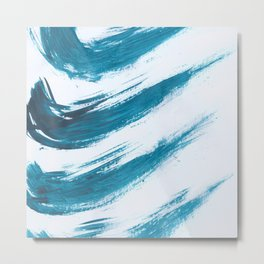 Nikee, Abstract, Blue Duck Metal Print