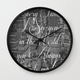 Step Lyrics Wall Clock