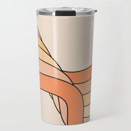 Tangerine Ribbon Travel Mug