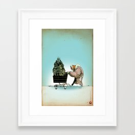 "Glue Network Print Series ""Homelessness"" Framed Art Print"