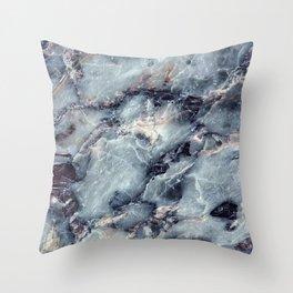 Blue Bayou Marble Throw Pillow