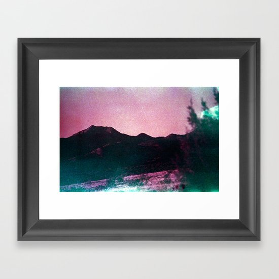 The Slope Framed Art Print