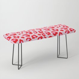 Leopard Print - Red And Pink Bench