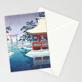 Tsuchiya Koitsu - Snowy Miyajima - Japanese Vintage Woodblock Painting Stationery Cards