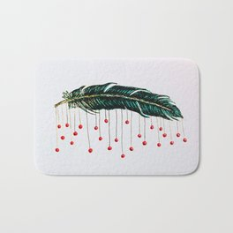 Feather with baubles Bath Mat