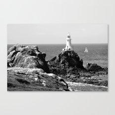 La Corbiere Lighthouse, Jersey. Canvas Print