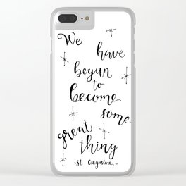 Some Great Thing: Black and White Clear iPhone Case