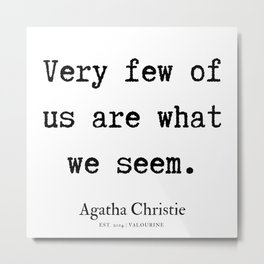 3  | Agatha Christie Quotes | 190821 Metal Print