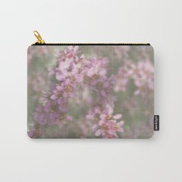 Abstract Pink and Green Flowers Carry-All Pouch