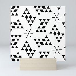 Triangle slide Pattern Mini Art Print