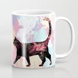 Abstract Cat Coffee Mug