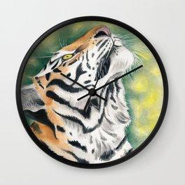 Bengal Tiger Jungle Ink Watercolor Wall Clock