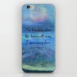 Emily Dickinson hope quote iPhone Skin