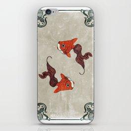 Peony gold fish iPhone Skin