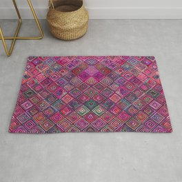 N46 - Arteresting Colored Traditional Boho Moroccan Artwork. Rug