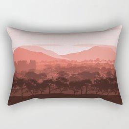 Terracotta Flat Landscape,Mountain Landscape, Forest Landscape, Castle Landscape, Nature Landscape Rectangular Pillow