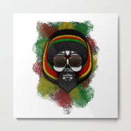 Snoop style ErrorFace Skull Metal Print