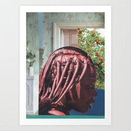 himba girl Art Print