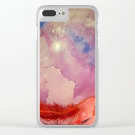 Falling Feather Clear iPhone Case
