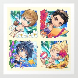 Summer Chocobros Art Print