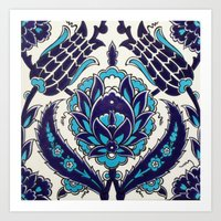 moroccan Art Prints featuring Moroccan by Faith Dunbar