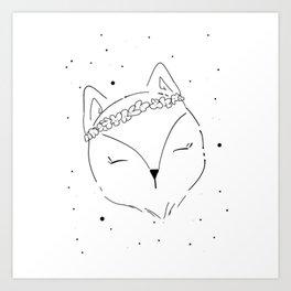 Fox Blossom illustration Art Print