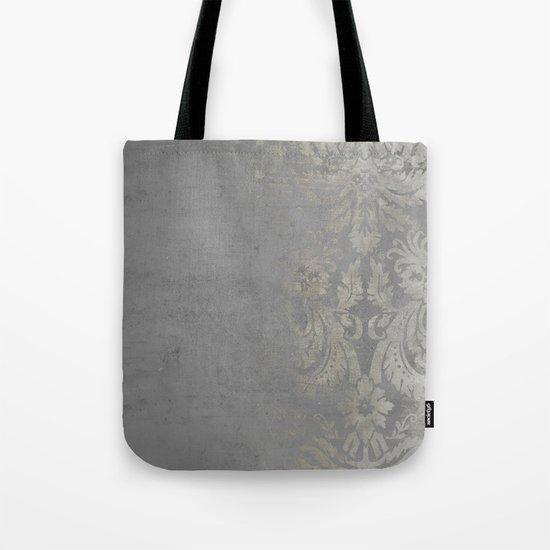 Grunge Damask Tote Bag