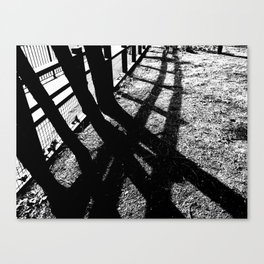 shadow trees Canvas Print