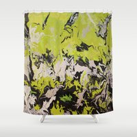 neon Shower Curtains featuring Neon by Elijah Mayfield
