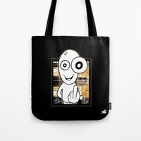 walter white Tote Bags featuring Walter by ouchgrafix urban art