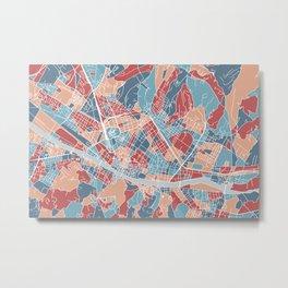 Florence map, Italy Metal Print
