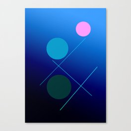 The 3 dots, power game 16 Canvas Print