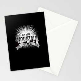 Mountain Time for Wander and Outdoor Fans Stationery Cards